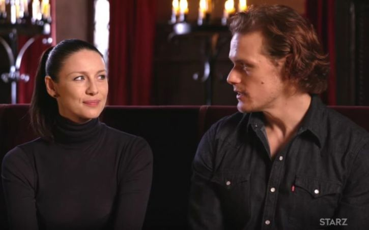 youtube sam heughan and caitriona balfe