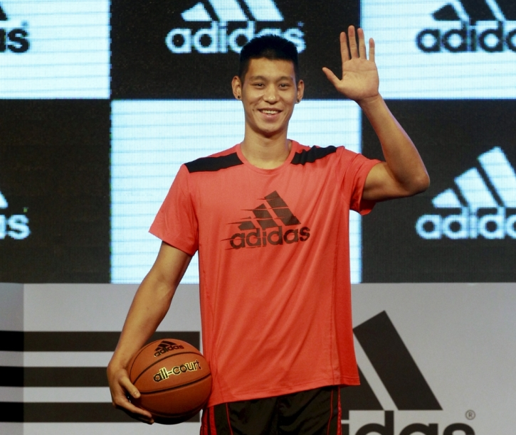 NBA player Jeremy Lin of Los Angeles Lakers attends a promotional event as  part of his Asia tour in Taipei 93b0ebdce