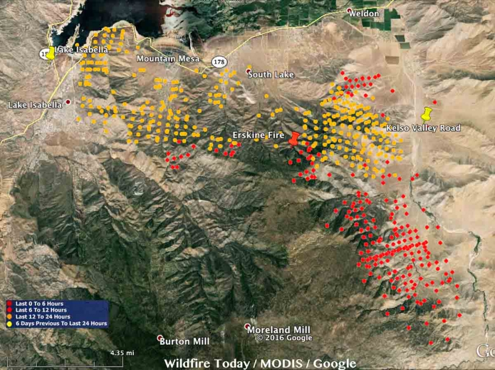 Lake Isabella Fire Map.Erskine Wildfire In Lake Isabella Maps Kern County Latest